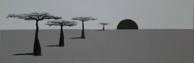"""Ors-izon-aimotion"" - baobab 1 - 90 x 30"