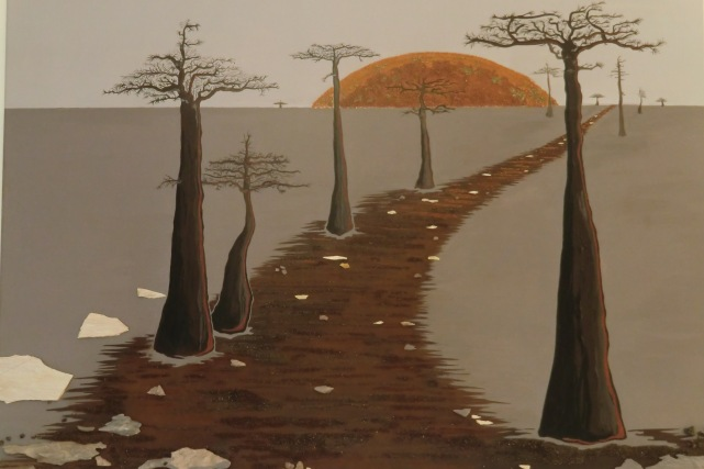 """""""Ors-izon-aimotion - baobabs en crépuscule"""" - 100 x 80"""