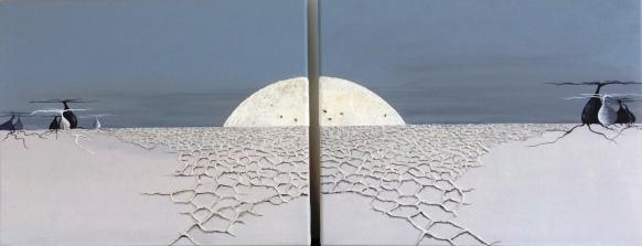 """Inspiration Uyuni - 2"" diptyque - 41 x 43"