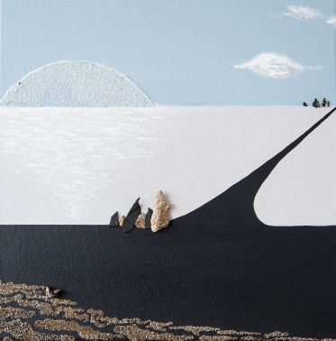 """Petits chemins sous la lune 5"" - 30 x 30"
