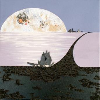 """Petits Chemins sous la Lune 1"" - 30 x 30"