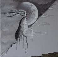 Ma terre mes racines - enlacés sous la lune 30 x 30