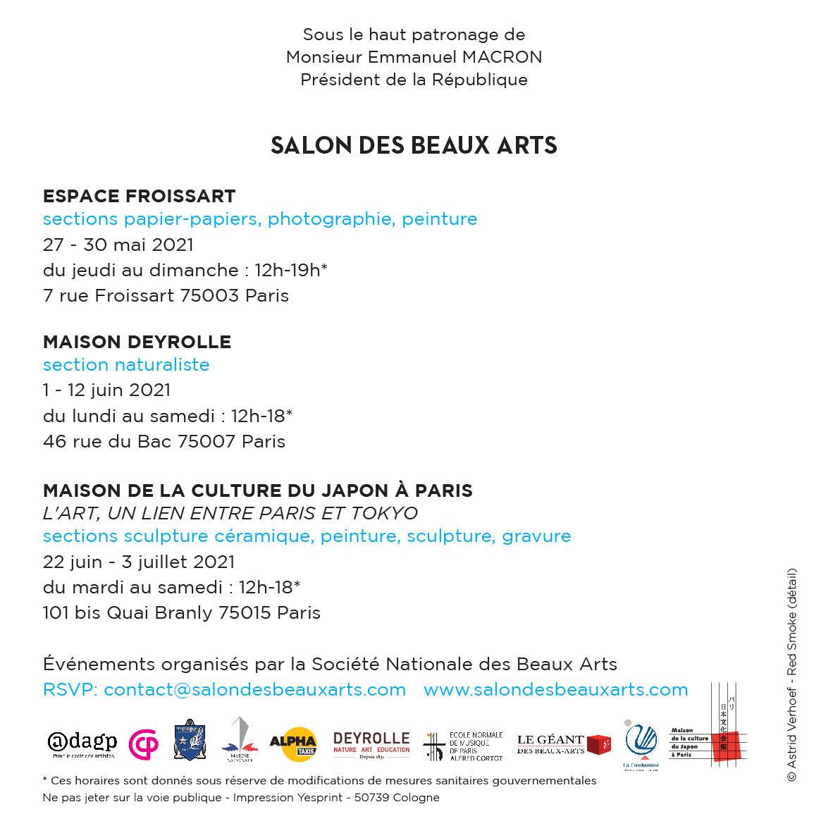Invitation Salon Beaux Arts 2020 recto